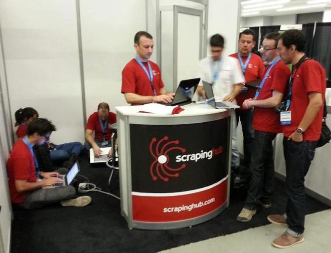 PyCon US Scrapinghub booth