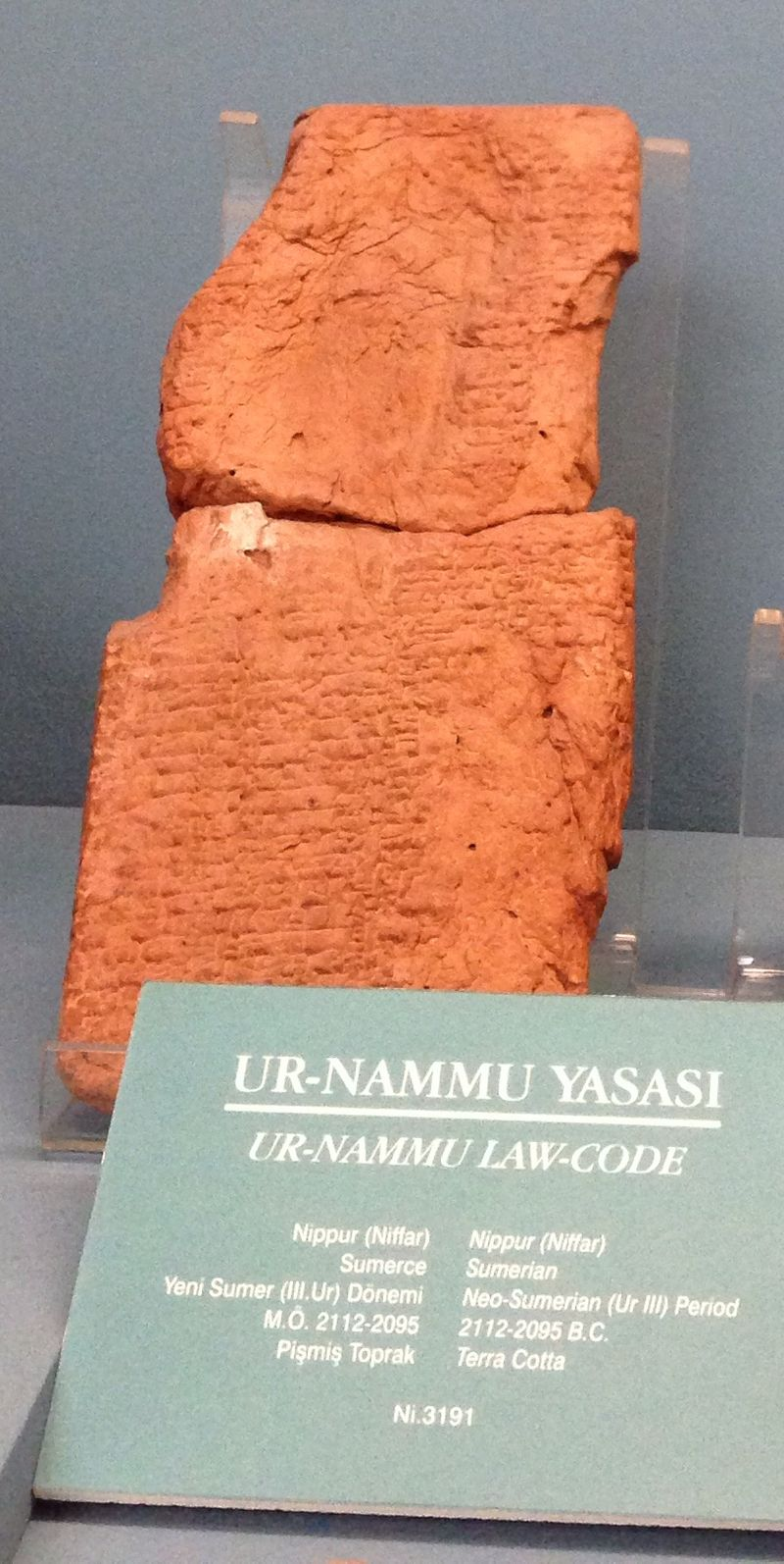 """Ur Nammu code Istanbul"" by Istanbul Archaeology Museum - Own work. Licensed under CC0 via Commons - https://commons.wikimedia.org/wiki/File:Ur_Nammu_code_Istanbul.jpg#/media/File:Ur_Nammu_code_Istanbul.jpg"