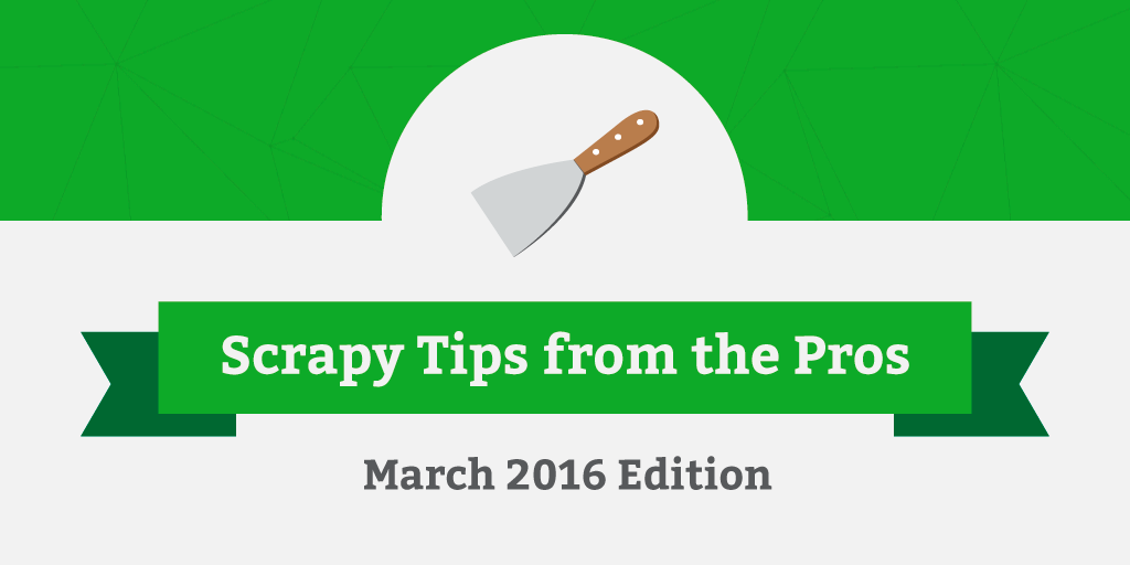 Scrapy-Tips-March-2016